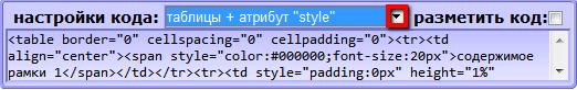 код рамочки для текста